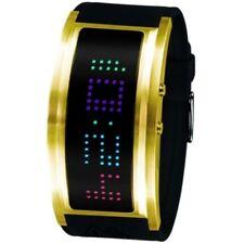 Black Dice GURU Front LED Digital Watch, Gold Black *NEW*  BD-060-03 Mens/Ladies