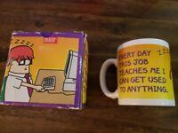 Rare Dilbert 90s Coffee Mug With Original Box! Vintage Dilbert Coffee Mug!