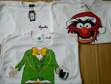 Nuevo 3x para hombre Navidad Star Wars Muppets Camisetas Talla XXL Nuevo Aspecto