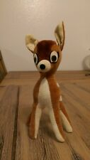 Vintage Disney Wood Filled Velvet Plush Small Bambi Japan Rare Cute