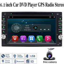"""6.2"""" Double 2din GPS Navigation Car Radio Stereo DVD Player+HD Cam Touch Screen"""