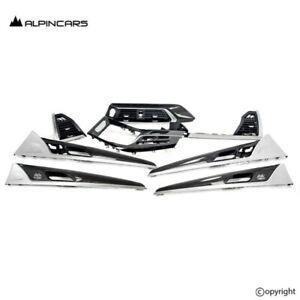 BMW G01 X3 F97 X3M F98 X4M Original Blenden Carbon Perlglanz Dashboard Trims set