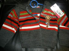 NEW Keloglan little boy sweater 3 years with hood zips in front gray NICE NWT
