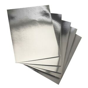 Hygloss Silver, 8.5 x 11-Inch Metallic Foil Board Sheets, Shiny, 25-Sheets
