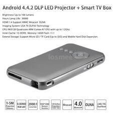 Mini WiFi HD Android DLP Portable Projector 1080P +Smart Quadcore TV BOX BT O7ZL