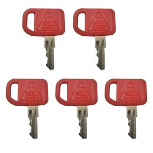 (5)For John Deere Ignition Key Loaders Tractors Backhoes with OEM Logo AR51481