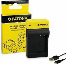 PATONA Slim Chargeur compatible avec Panasonic DMW-BLG10  avec cable micro USB