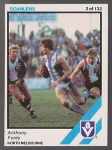 1984 Scanlens No 2 Anthony Furey North Melbourne Kangaroos card