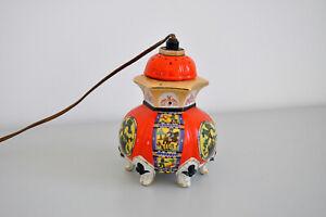 Alter Rauchverzehrer Aerozon Lampe Pagode Japanisches Porzellan Duftlampe