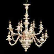 Capodimonte Made In Italy Chandelier 12 Light (New) Mother of Pearl Finish
