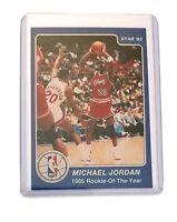 1985 STAR Michael Jordan ROOKIE OF THE YEAR ACEO Card Blue Gatorade Bulls MJ 23