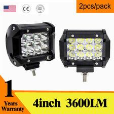 4'' 36W 3Row Offroad Driving Light Pod Cube CREE LED Work Lamp Spot Beam 2pc VST