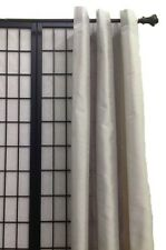"""1 Panel Faux Silk Grommet Window Curtains Drapes Each 54"""" Wide X 84"""" 16 Colors!"""