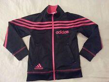 Boys adidas Full Zip Jacket 4T Black Red