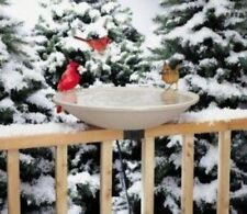 "Allied 14"" Heated Birdbath Ez Tilt Deck Mount Bird Bath"