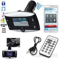 Wireless Bluetooth FM Transmitter MP3 Player Freisprechanlage Modulator SD USB