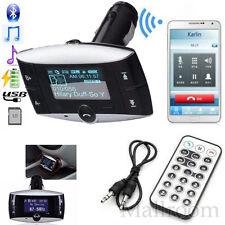 Wireless Bluetooth FM Transmitter MP3 Player Freisprechanlage Modulator SD USB A