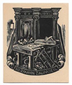 KARL ERICH MERSEBURGER: Exlibris für Hermann Zaumseil, 1948