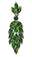 Chrome Diopside 3.14 Ct Awesome Pendant 925 Starling Silver Occasion Top Jewelry