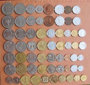 Komplette Münzen Israel Set Pruta, Lira, alte & neue Schekel - Lot von 31 Münzen