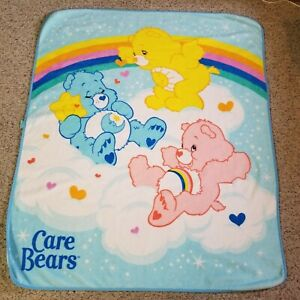 Care Bears 57x48 In Blanket Crib Toddler Bed Throw Soft Fleece Rainbow Baby Gift