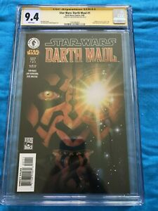 Star Wars: Darth Maul 1 - Dark Horse - CGC 9.4 SS NM - Signed by Jan Duursema