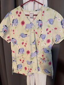 Disney Eeyore Scrub Top Size Lrg