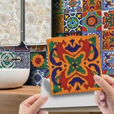 24Pcs Mosaic Tile Wall Stickers Kitchen Bathroom Self-Adhesive Moroccan Style