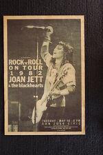 Joan Jett & the blackhearts Poster 1982 San Jose Civic