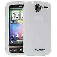 AMZER Silicone Skin Jelly Case Cover Fit For for HTC Desire - Transparent White
