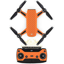 SopiGuard Orange Carbon Fiber Skin Wrap Battery Controller for DJI Spark