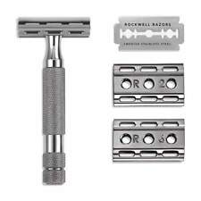 Rockwell Razors, 6C Adjustable Safety Razor, GUNMETAL CHROME Finish - New in Box