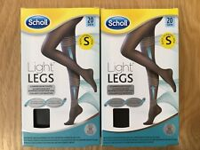 Scholl Light Legs Compression Tights 20 Den Denier Black Small - 2 Packs