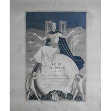 FOIRE de REIMS 1950 DIPLÔME Médaille décerné aux Établis. ICARD Vins Spiritueux