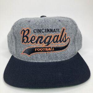 Vintage Rare Cincinnati Bengals Starter Script Wool SnapBack Hat NFL Football