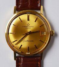Eterna Matic 2000 Centenaire 18 Karat 750 Gold Golduhr Armbanduhr Herrenuhr