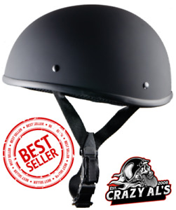 Crazy Al's WSB World's Smallest Lightest FLAT BLACK-DOT Beanie Helmet