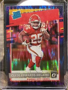 2020 Donruss Optic Clyde Edwards-Helaire Rated Rookie Blue Hyper Prizm 🔥