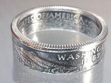 Münzring USA State Quarter 2007 Washington versilbert Größe 58 Breite 7 mm