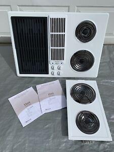 Jenn-Air JED8130ADW Cooktop Downdraft Electric Coil Burners Grill Unit & Manuals