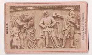 Vintage CDV Reliefs sur Le Germania Monument Berlin Par Rudolf Siemering 1871