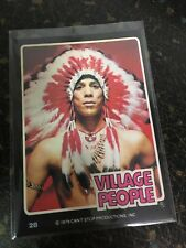 THE VILLAGE PEOPLE 1979 FELIPE DONRUSS ROCK STARS SERIES CARD # 28 NEAR MINT