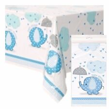BLUE UMBRELLAPHANTS - Tablecovers, Baby Shower Party Boy, Tableware Supplies