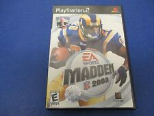PlayStation 2, Madden 2003, EA Sports, Rated E, The Best Gets Better Mini-Camp