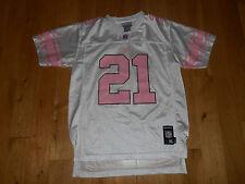 Reebok Tiki Barber White Pink New York Giants Girls Nfl Team Replica Jersey Xl
