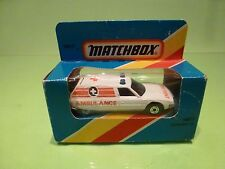 MATCHBOX MB12 CITROEN CX - AMBULANCE - WHITE - VERY GOOD IN BOX