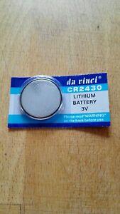 CR 2430 Batterie Knopfzelle Lithium 3V Neu&OVP (da vinci)