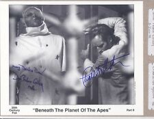 Don Pedro Colley, Planet of the Apes, Signed 8x10 b/w photo w/ Charleton Heston