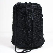 Chenille schwarz Glanz Effekt extra Weich  Wolle Garn Stricken Kone  / 219