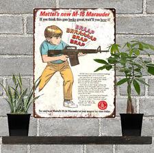"1967 Mattel M-16 Riffle Gun Ad Man Cave Metal Sign Repro 9x12"" 60556"